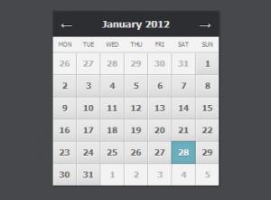 Календарь на CSS