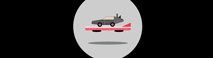 DeLorean на ховерборде