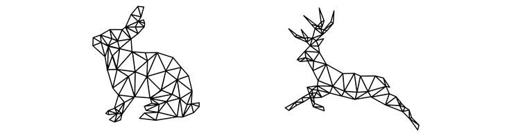 Треугольники: переход из кролика в оленя