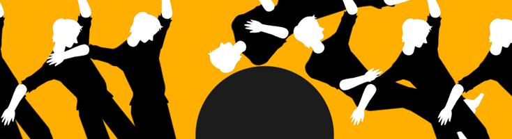 Анимация с человеческими фигурами и шаром