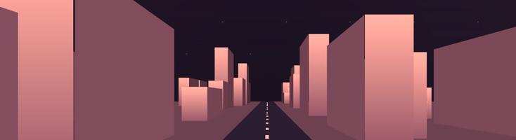 Анимация на CSS Ночная прогулка