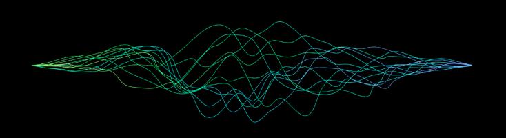 Анимация с цветными волнами