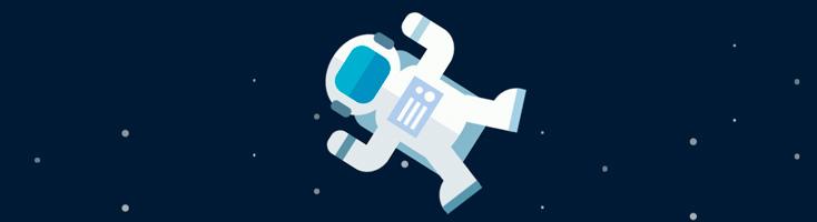 Астронавт на CSS
