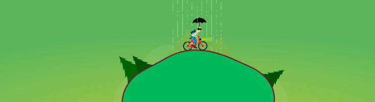 Анимация с велосипедом