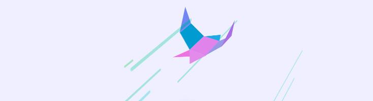 Анимация с бумажной птичкой
