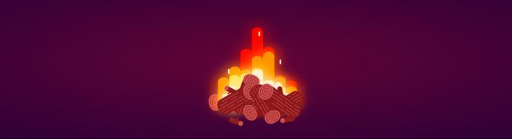 Анимация костра на CSS