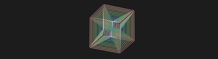 Цветной куб в движении на CSS