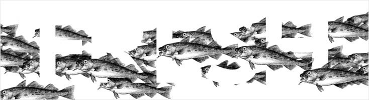 Косяк рыб, обтекающий текст