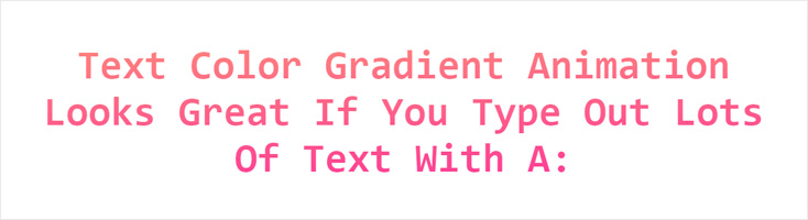 Анимация градиентного текста