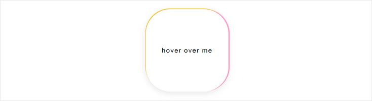Цветная рамка в движении при наведении