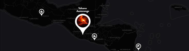 Карта с анимированными SVG метками