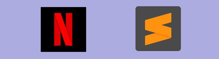 Трансформация логотипа Netflix в новую версию логотипа Sublime Text