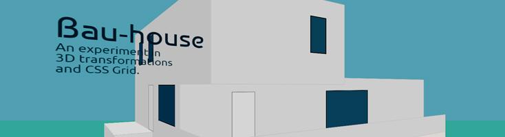 Трехмерный дом на CSS