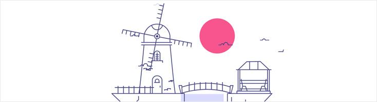 Анимация с мельницей на CSS