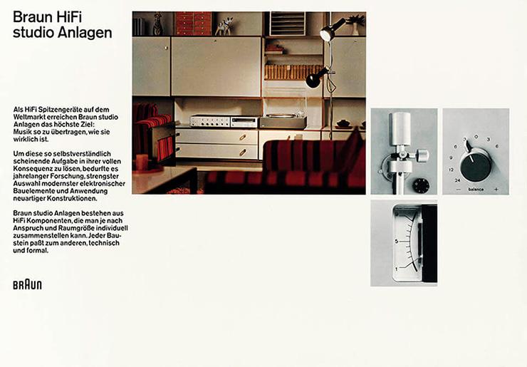 Постер Braun HiFi studio Anlagen regie 501
