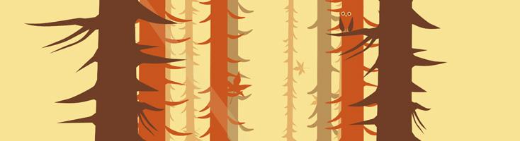 Анимация осеннего леса