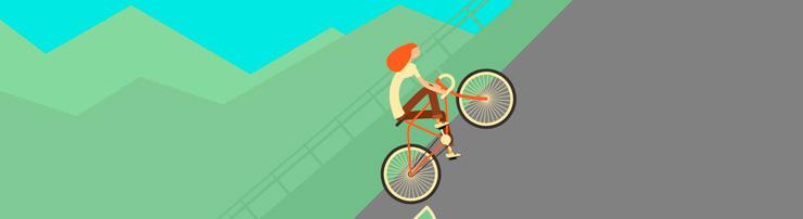 Анимация с велосипедисткой