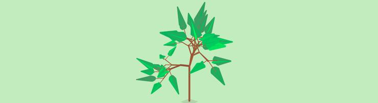 Дерево в движении на CSS