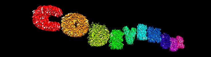Заводная анимация с пушистыми буквами