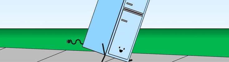 Анимация с убегающим холодильником