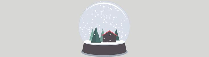 Анимация снежного шара