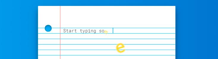 Сумасшедший эффект при вводе текста