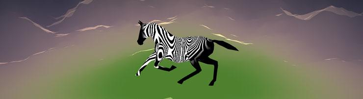 Бегущая зебра