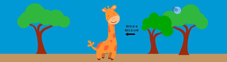 Забавная анимация с жирафом