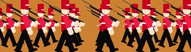 Парад солдатиков с параллакс-эффектом