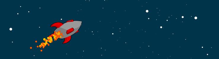 Ракета в космосе