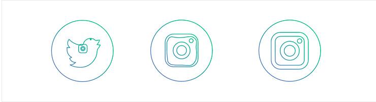 Трансформации иконок соцсетей
