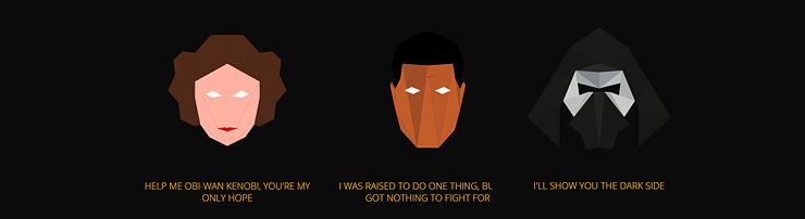 Трансформации героев фильма Звездные войны: Последний джедай из многоугольников