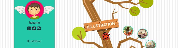 Креативное портфолио с SVG-анимацией при прокрутке