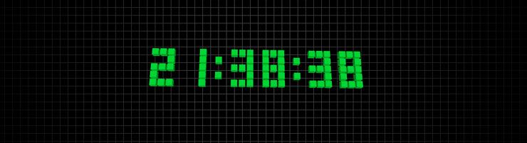 Анимация часов из блоков