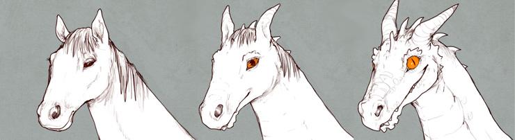 Трансформация лошади в дракона