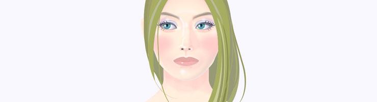 CSS-портрет со сменой прически