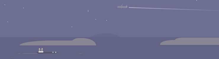 CSS-иллюстрация Небо и море