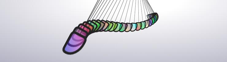 Цветной маятник-змейка на CSS