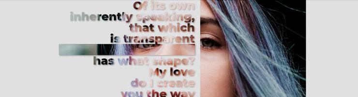 Любопытный дизайн фото и текста