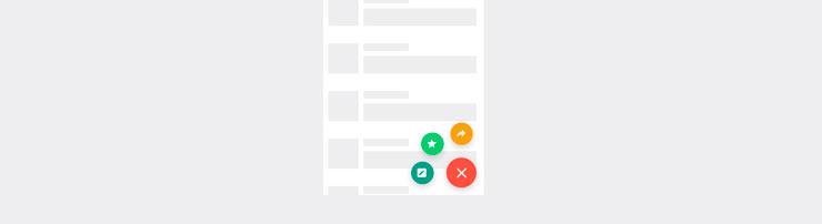 Меню действий на CSS