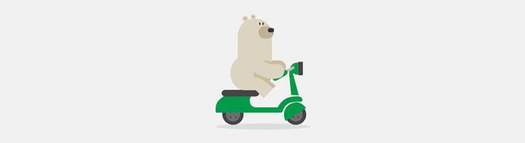 Медведь на мопеде