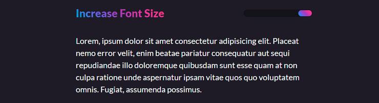 Изменение размера шрифта через CSS-переменные