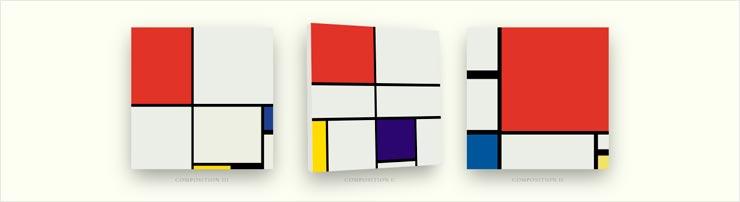 Картины Мондриана на CSS-гридах