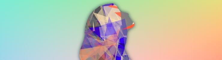 Анимированный портрет с треугольниками