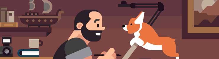 Анимация про дизайнеров на CSS