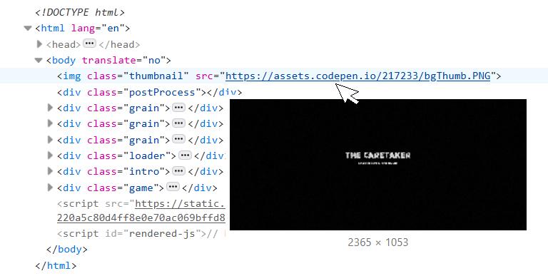 Структура HTML игры